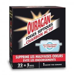 Entretien pour fosses septiques - Action rapide et continue - Charbon actif - OURAGAN