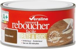 Pâte à bois - Comment reboucher facile - Chêne foncé - 250 Grs - VERALINE
