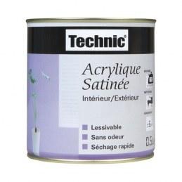 Peinture acrylique - satin - noir - 0.5 L - TECHNIC