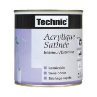 Peinture acrylique satinée - 0.5 L - jaune agrume - TECHNIC