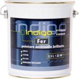 Peinture fer antirouille - Blanc - 2.5 L - INDIGO