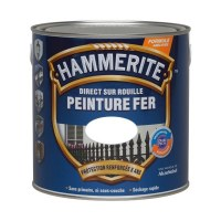Peinture Fer brillant - Direct sur rouille - 2.5 L - Blanc - HAMMERITE