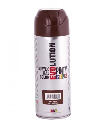 Aérosol de peinture acrylique - Brillant - Marron - Ral 8011 - 400 ml - Evolution