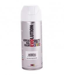 Peinture acrylique - Blanc pur brillant - 400 ml - PINTY