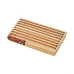 Planche à pain avec ramasse miettes + couteau à pain