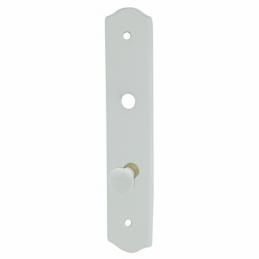 Plaque simple poignée avec bouton - Porcelaine - Blanc - Condannation - DT 2000