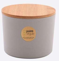 Boîte en fibre de Bambou - Biodégradable - Gris - 640 ml - POINT VIRGULE