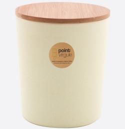 Boîte en fibre de Bambou - Biodégradable - Blanc cassé - 1 L - POINT VIRGULE