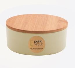 Boîte en fibre de Bambou - Biodégradable - Blanc cassé - 300 ml - POINT VIRGULE