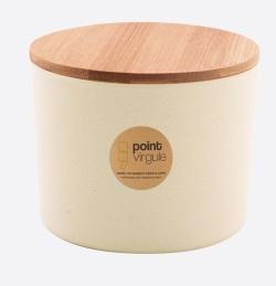 Boîte en fibre de Bambou - Biodégradable - Blanc cassé - 640 ml - POINT VIRGULE