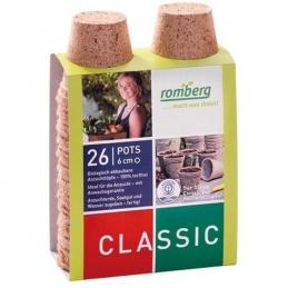 26 pots biodégradables de 6 cm de diamètre - Rond - 100 % biodégradables - Classic - ROMBERG