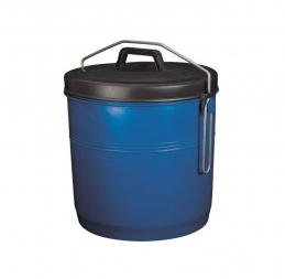 Poubelle avec couvercle inséparable - 16 L - Bleu - ALUMINIUM & PLASTIQUE
