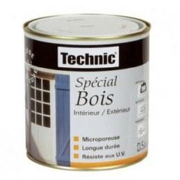 Peinture Spécial Bois - Blanc - 0.5 L - TECHNIC