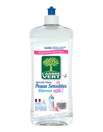 Liquide vaiselle - Peaux sensibles et biberon - Sans parfum - 750 ml - L'ARBRE VERT