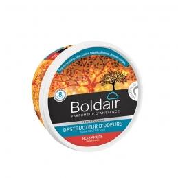 Destructeur d'odeur - Bois ambré- Gel solide 300 gr - BOLDAIR