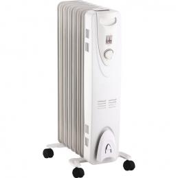 Radiateur à bain d'huile - 1500 Watts - Blanc - PVM
