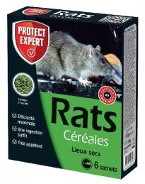 Raticide - Appâts à base de céréales - 150 Grs - PROTECT EXPERT