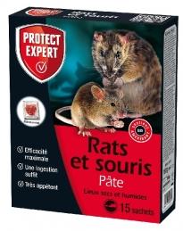 Raticide et souricide en pâte - Lieux secs et humides - 150 Grs - PROTECT EXPERT
