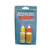 Recharge pour trousse analyseur - chlore et pH - BLUE POINT COMPANY