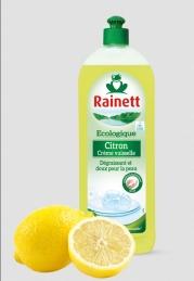 Liquide vaisselle - Crème Citron - Écologique - 750 ml - RAINETT