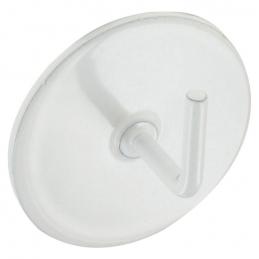 Support adhésif en métal pour Tringle ronde - Blanc - Vendu par 2 - ATELIER 28