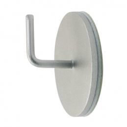 Support adhésif en métal pour Tringle ronde - Chromé satiné - Vendu par 2 - ATELIER 28