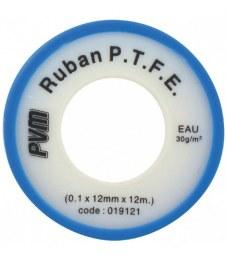 Ruban d'étanchéité P.T.F.E - Téflon - 12 m x 12 mm - 0.1 mm - Lot de 10 - PVM