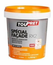 Enduit spécial façade en pâte - RX2 - Fibré - 1.250 Kg - TOUPRET