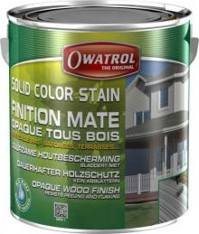 Laque de finition pour bois - Opaque Mate - Solid Color Stain - Rouge suédois - 2.5 L - OWATROL