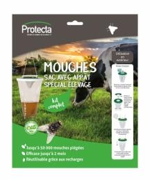 Piège à mouches jetable - Spécial élevage - PROTECTA