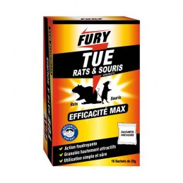 Souricide / raticide - Sachet raticide et souricide - 400 g - FURY