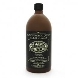 Savon noir liquide - Multi-usages - 1 L - LE SAVONNIER MARSEILLAIS