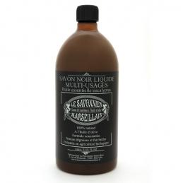 Savon noir liquide - Multi-usages - Eucalyptus - 1 L - LE SAVONNIER MARSEILLAIS