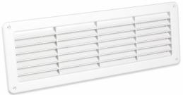 Grille de ventilation encastrable - A visser - Blanc - 370 x 123 mm - DMO