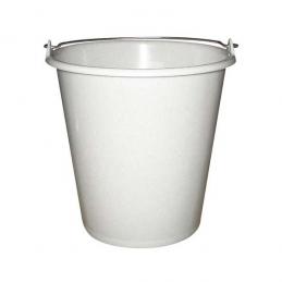 Seau ménager en plastique avec anse - 5 L - Blanc - ALUMINIUM & PLASTIQUE