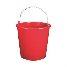 Seau ménager en palstique avec anse - 5 L - Rouge - ALUMINIUM & PLASTIQUE