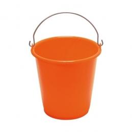 Seau ménager en palstique avec anse - 5 L - Orange - ALUMINIUM & PLASTIQUE