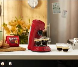 Machine à café à dosettes - Senseo Original - Rouge intense - 0.75 L - PHILIPS