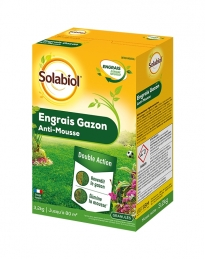 Engrais Gazon Anti-Mousse - 3.2 Kg - SOLABIOL