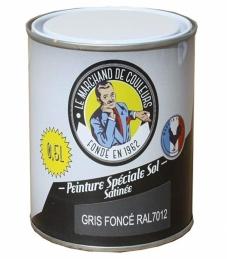 Peinture Spécial Sol - Satinée - Gris foncé - 0.5 L - ONIP