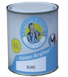 Peinture acrylique - Murs et plafonds - Mat - Blanc - 0.5 L - ONIP