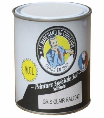 Peinture Spécial Sol - Satinée - Gris clair - 0.5 L - ONIP