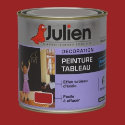 Peinture Tableau - Bois, MDF, Plâtre, Fer - Rouge - 500 ml - JULIEN