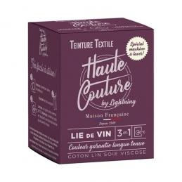 Teinture spécial machine à laver - 350 Grs - Lie de vin - HAUTE-COUTURE