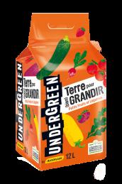 Terre pour GRANDIR - Terreau Petits Fruits et Légumes - 12 L - UNDERGREEN