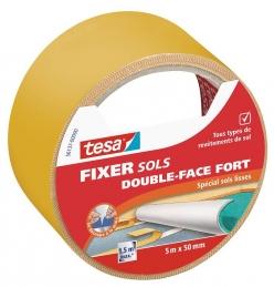 Ruban double face - Fixer Sols Double-face fort - spécial sols lisses - 5 x 50 mm - TESA