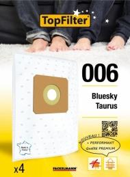 4 Sacs Aspirateur Premium - Bluesky Taurus - Model 006 - TOPFILTER