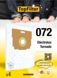 4 Sacs Aspirateur Premium - Electrolux Tornado - Model 072 - TOPFILTER