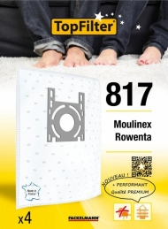 Sac PREMIUM 64817 Moulinex Rowenta - Lot de 4 - TOPFILTER