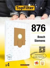 Sac TopFilter PREMIUM 64876 Bosch Siemens - Lot de 4 - TOPFILTER